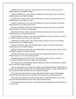 Nuremberg Trial Stimulus Based Questions