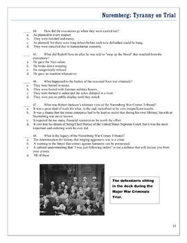 Nuremberg Tyranny on Trial VIDEO BUNDLE: PDF, Examview & Editable