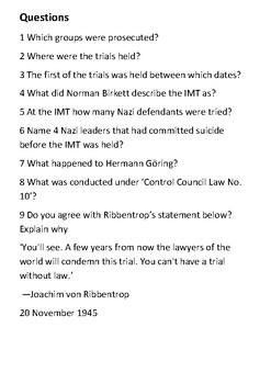 Nuremberg trials Handout