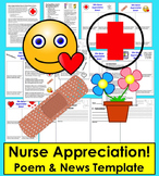 Nurse Appreciation News!  - Templates to Write and Publish + Nurse Poem