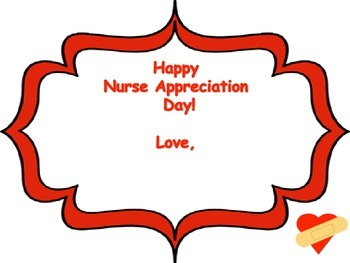 Nurse Appreciation Week Card/Writing Template/Ouch Bandaid Writing