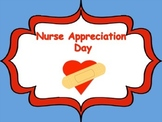 Nurse Appreciation Week Card/Writing Template/Ouch Bandaid