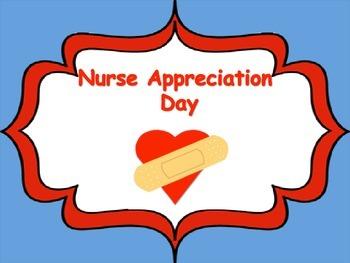 Nurse Appreciation Week Card/Writing Template/Ouch Bandaid