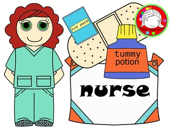 Nurse Clipart (Personal & Commercial Use)