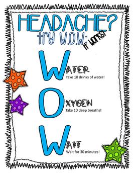 Nurse Joy Headache Help! by Nurse Joy Health Room Help | TpT