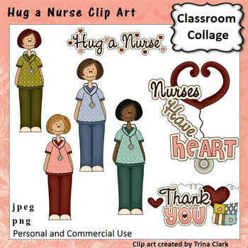 Nurse Medical Clip Art - color - personal & commercial use