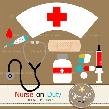 Nurse Medical digital paper and clipart