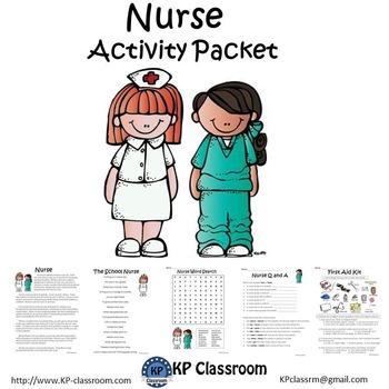Nurse No Prep Activity Packet and Worksheets