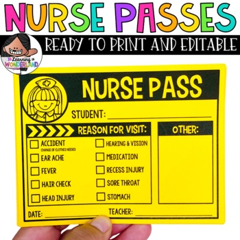 Nurse Pass / Health Aide Pass Freebie
