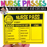 Nurse Pass / Health Aide Pass Freebie