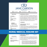 Nurse Resume, School Nurse, Medical Resume, Nursing CV, Health Care Resume, RN
