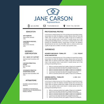 Nurse Resume, School Nurse, Medical Resume, Nursing CV, Health Care Resume, RN