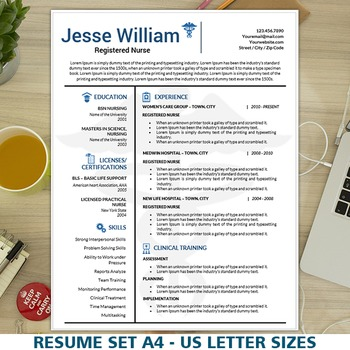 Nursing Resume Template Medical Resume Instant Download Nurse Cv
