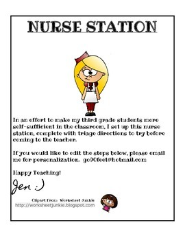 Nurse Station Classroom Nurse's