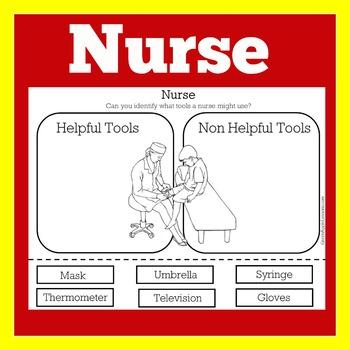 Nurse Worksheet | Nurse Activity | Nurse Printable | Nurse Community Helper