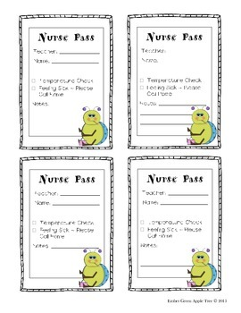 Nurse and Office Passes
