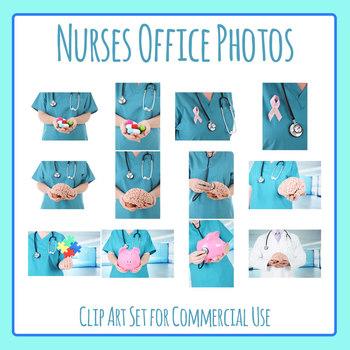 Nurse or Nurses Office Photos Clip Art Set for Commercial Use