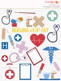 Nurse or doctor symbols clipart, nursing clipart (LC01)