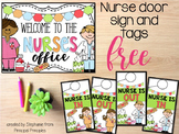 Nurse's Office Welcome Sign and Door Tag