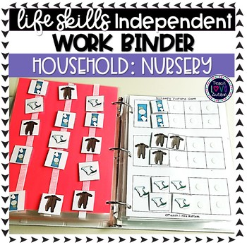 Nursery Work Tasks or File Folders