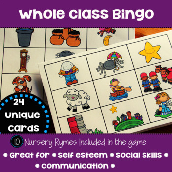 Nursery Rhymes - with mini books, posters, bingo and sequencing activities!