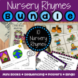 Nursery Rhymes Activities: Mini Books, Posters, Bingo, Sequencing