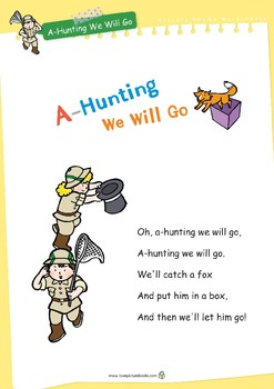 Nursery Rhyme Activities : A-Hunting We Will Go *Printables