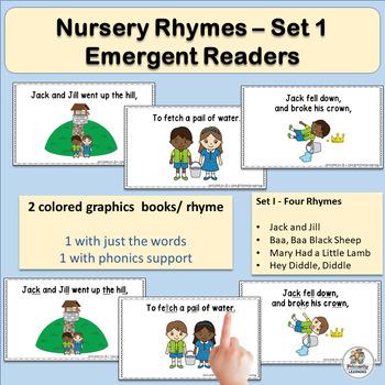 Nursery Rhyme Activities: Emergent Readers – Set 1