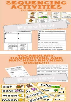 Nursery Rhyme Activities -  Hey Diddle Diddle BUMPER PACK