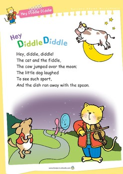 Nursery Rhyme Activities : Hey Diddle Diddle *Printables