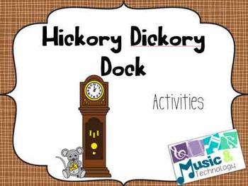 Nursery Rhyme Activities- Hickory Dickory Dock