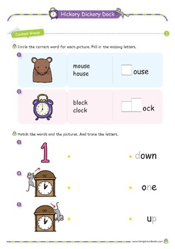 Nursery Rhyme Activities : Hickory Dickory Dock *Printables