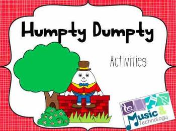 Nursery Rhyme Activities- Humpty Dumpty