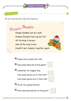 Nursery Rhyme Activities : Humpty Dumpty *Printables