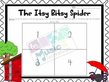 Nursery Rhyme Activities- Itsy Bitsy Spider
