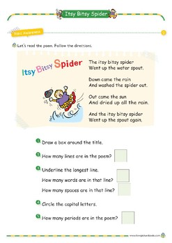 Nursery Rhyme Activities : Itsy Bitsy Spider *Printables