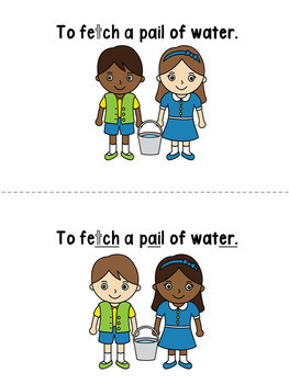 Nursery Rhyme Activities: Jack & Jill Inclusive, Multi-level, Printable Booklets