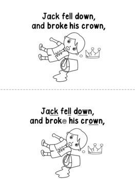 Jack & Jill Printable EMERGENT READERS complement programs like Jolly Phonics
