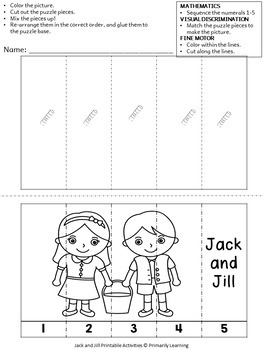 Nursery Rhymes: Jack & Jill Puzzles by Primarily Learning ...