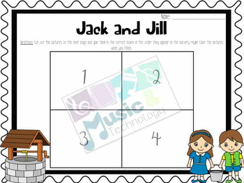 Nursery Rhyme Activities- Jack and Jill