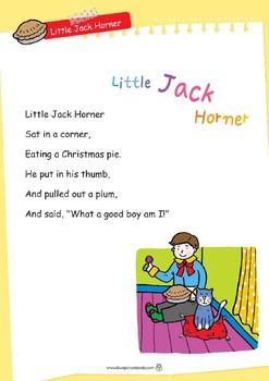 Nursery Rhyme Activities : Little Jack Horner *Printables