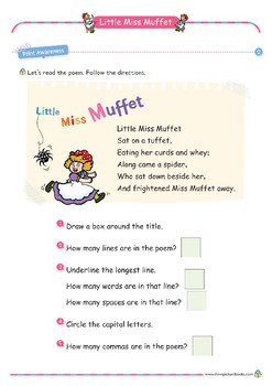Nursery Rhyme Activities : Little Miss Muffet *Printables