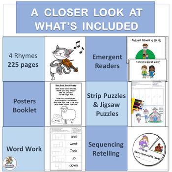 Nursery Rhyme Activities MEGA-BUNDLE: Set 1 | Word Work, Readers, and more!
