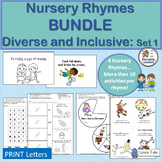 Nursery Rhymes Activities MEGA-BUNDLE: Sequencing, Word Work, Puzzles and more!