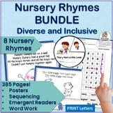Nursery Rhymes Activities MEGA-BUNDLE for 4 Nursery Rhymes! Set 1