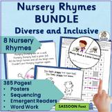 Nursery Rhyme Activities MEGA-BUNDLE: Set 1 (SASSOON) Word Work, Readers & more!