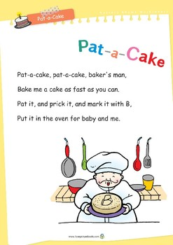 Nursery Rhyme Activities : Pat-a-Cake *Printables