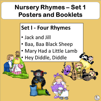 Nursery Rhyme Activities: Posters and ¼ fold Booklets SET 1