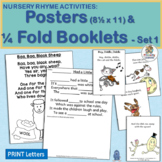 Nursery Rhyme Activities Posters and Take-Home Booklets