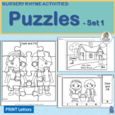 Nursery Rhymes Activities - Puzzles for 4 Rhymes!